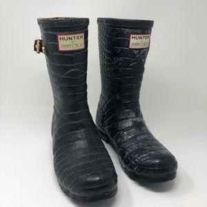 20d8774a9d3 Jimmy Choo x Hunter boots Rain boot gold buckle